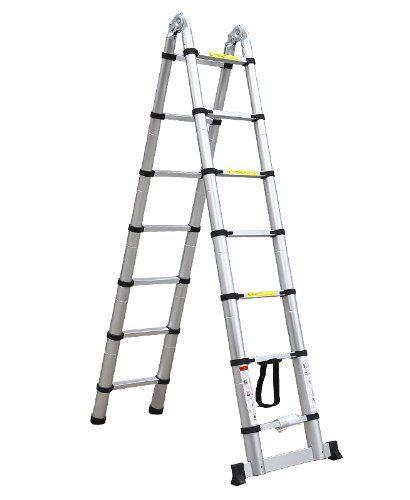 WORHAN® 3-8m-teleskopleiter-2-in-1-anlegeleiter-klappleiter | Telesteps Leiter