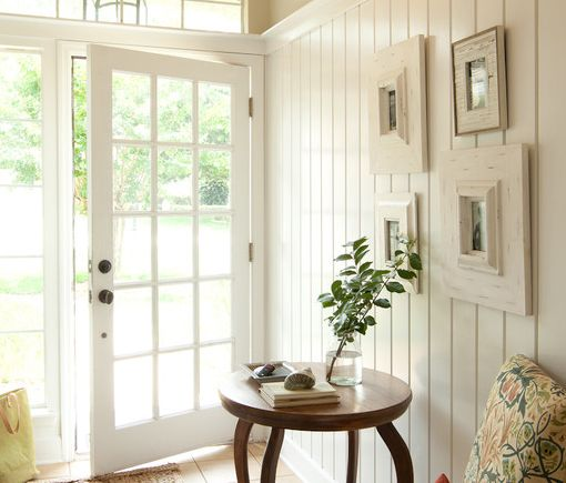 White Wooden Panelling - Wood panelling is quintessentially colonial ...