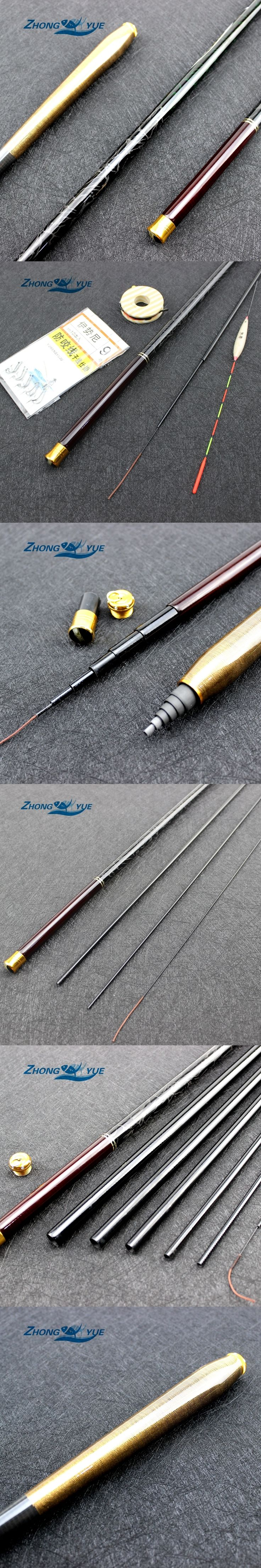 2017NEW 3.6M-7.2M Carbon Fiber Telescopic Fishing Rod Set Super Hard Ultra Light Carp Fishing Pole Stream Fishing Rod