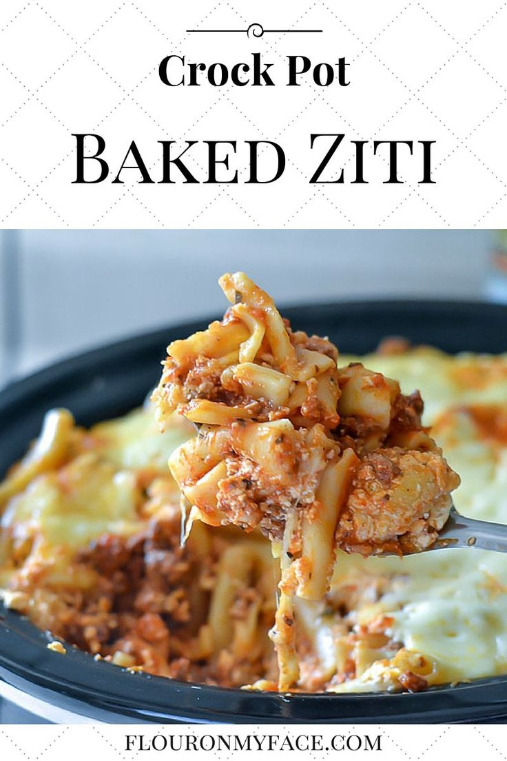 Enjoy a family dinner of Crock Pot Baked Ziti made with uncooked pasta and avoid…
