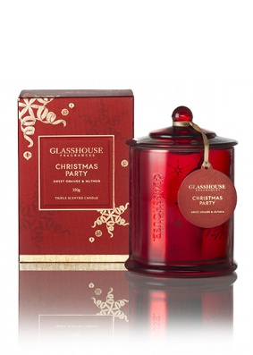 'Christmas Party' Glasshouse candle.