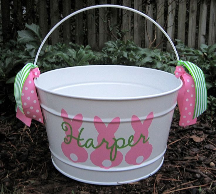Personalized Easter Bucket 16 QT assorted colors by twosisters76, $32.00