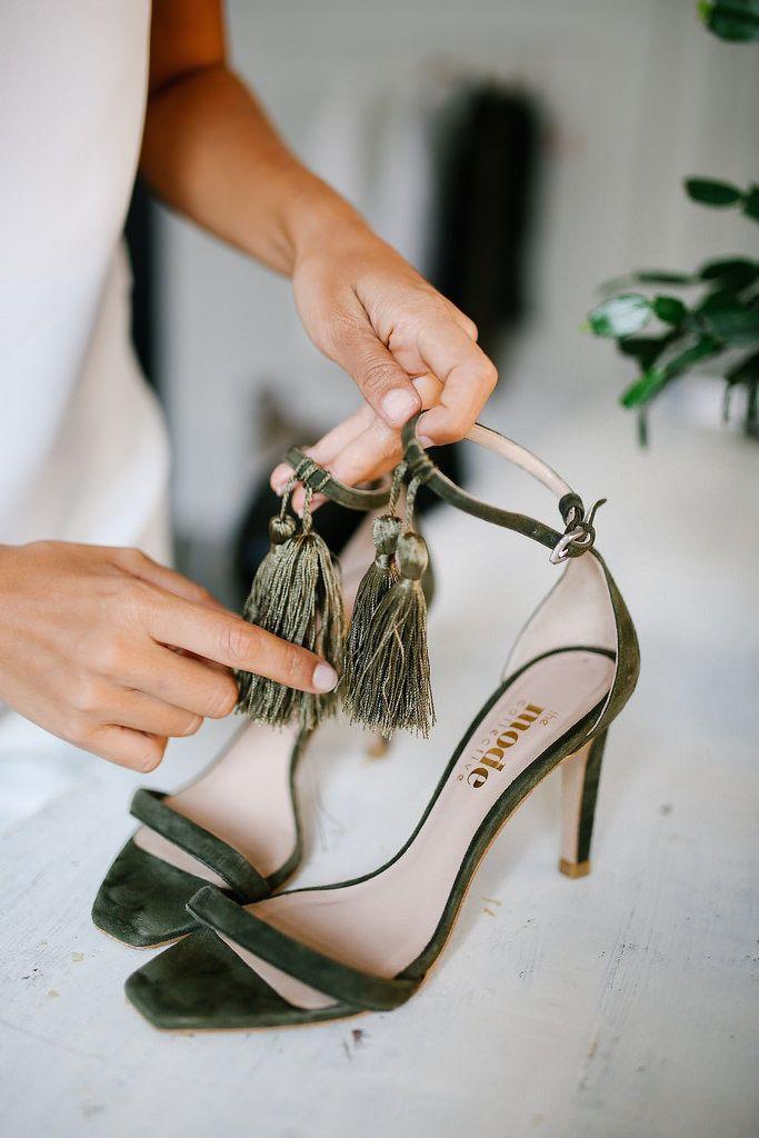 DIY Quick tassel heels