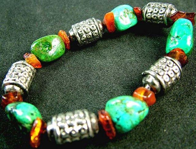 TURQUOISE AMBER BRACELET 108 CTS [MX2435 ] fashionable gemstone bracelets, gemstone bracelets , bracelets