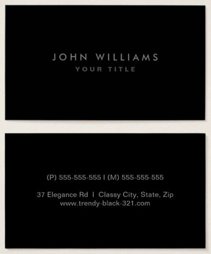 57 best Generic business cards images on Pinterest Minimal