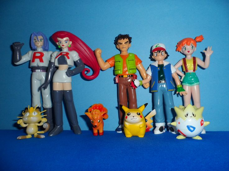 Pokemon Ash Misty Brock Jesse James Meoweth