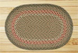 LolaViola - Rug Jute Green/Burgundy Braided Oval C-09, $24.00 (http://lolaviola.co/rug-jute-green-burgundy-braided-oval-c-09/)