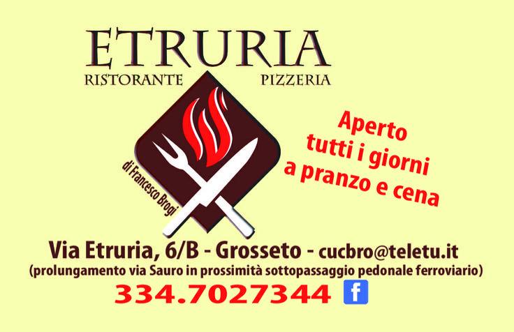 Ristorante Pizzeria Etruria prossima apertra