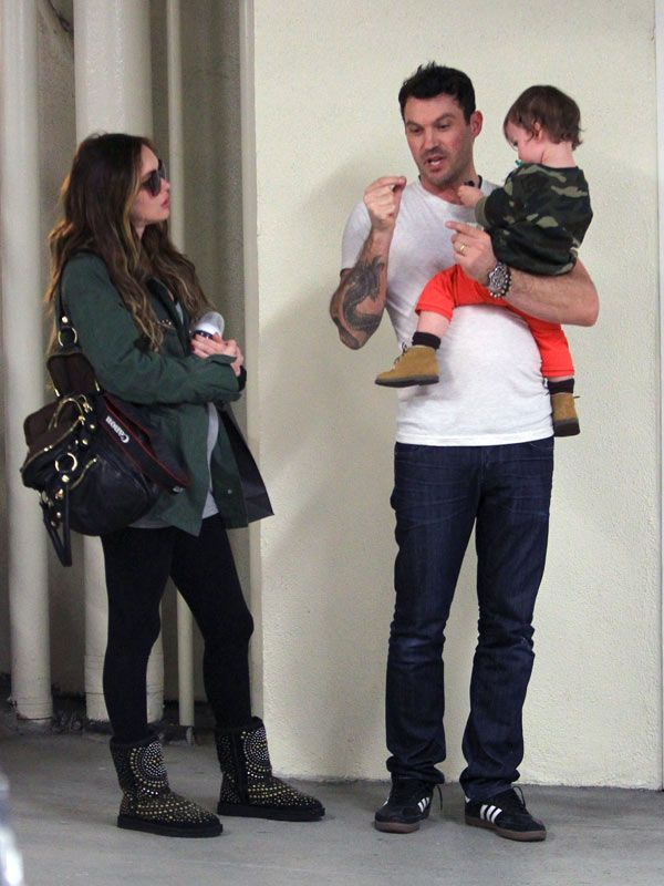 Megan Fox Shows Off Baby Bump On Family Outing With Cute Son�Noah