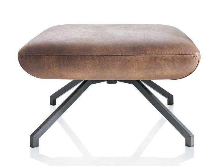 Pouf rembourré en cuir X POUF by ALMA DESIGN design Mario Mazzer