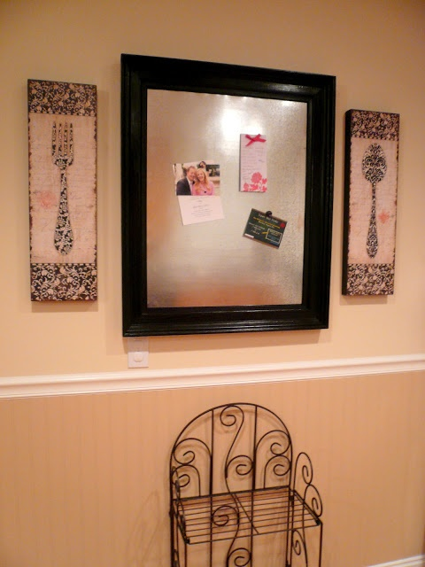 Large Magnet Board Fro Kitchen Wall!! Check It Out At The Craftinu0027 Cami