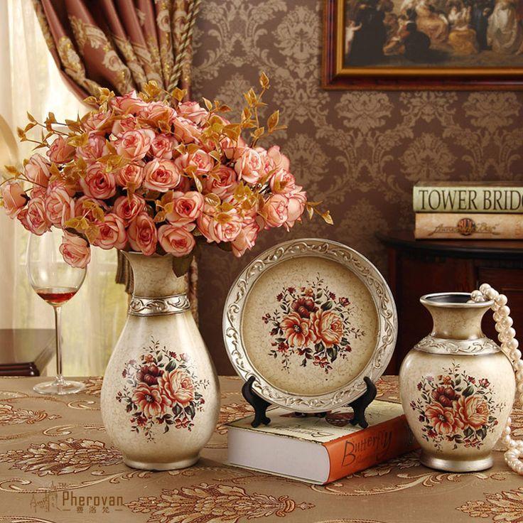 fashion modern ceramic vase three piece set decoration decoration gift Home Furnishing Decor minimalist personality #Affiliate
