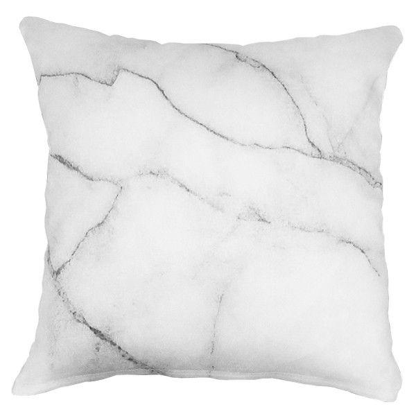 SAFE HOUSE USA - White Marble Throw Pillow
