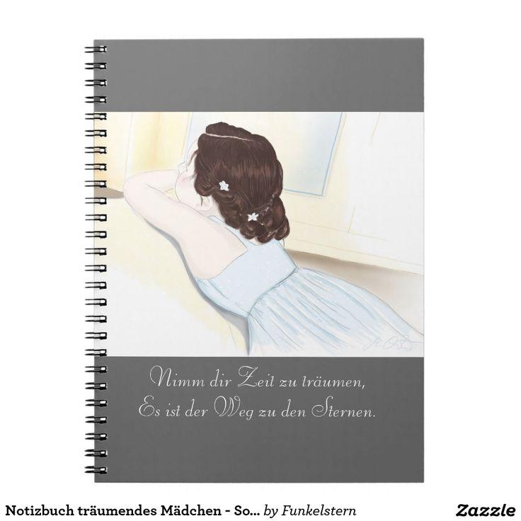 Notizbuch träumendes Mädchen - Sophia