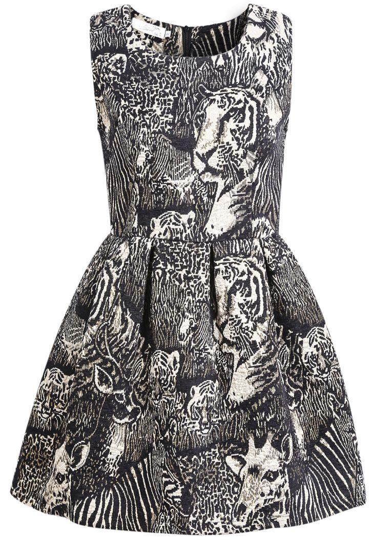 Gold Sleeveless Tiger Print Dress 30.17