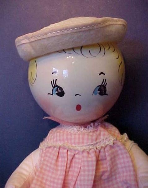 doll bottom cloth head plastic