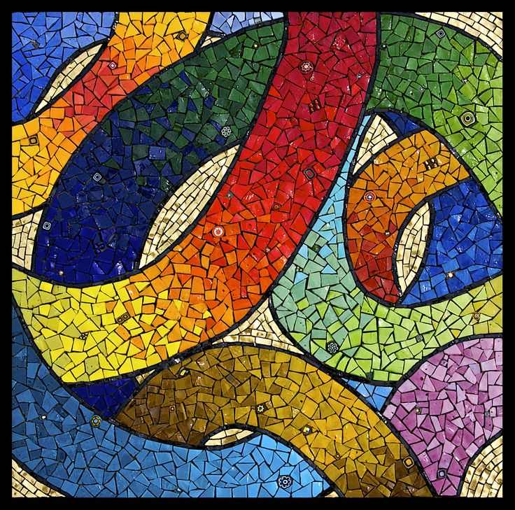 stained glass abstract tiles - photo #15