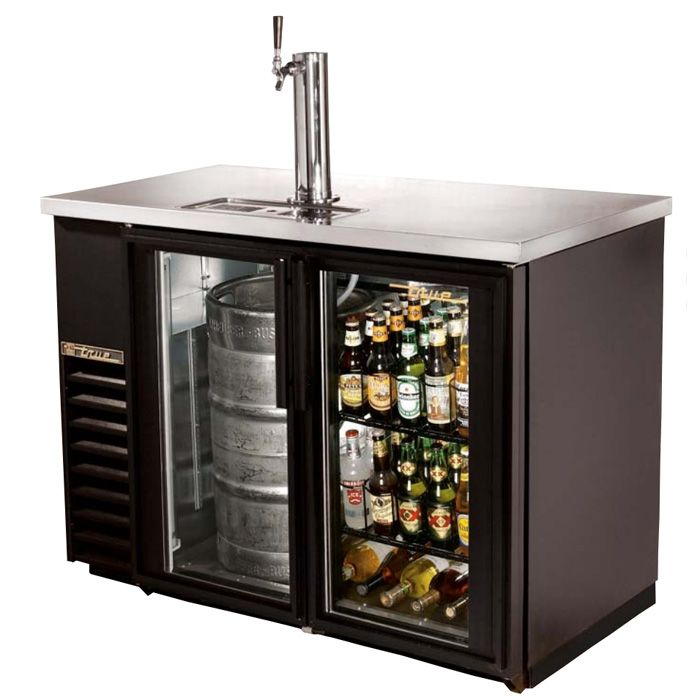 True TDB-24-48G - Glass Door Direct Draw & Back Bar Beer Dispenser