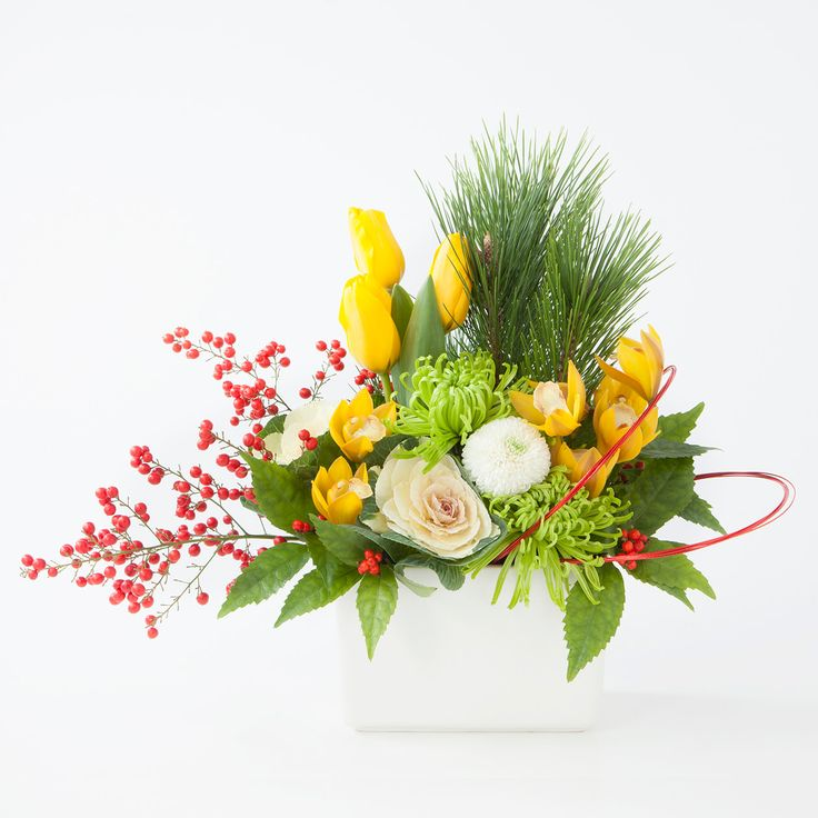 【ネット限定】高知産シンビジウムのお正月アレンジ