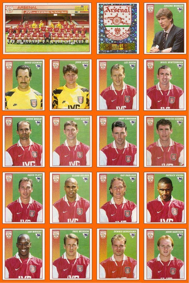 Vintage Arsenal lineup, 1997.  Patrick!!