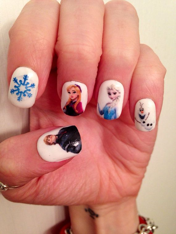 Frozen Nail Decals by PaipurNails on Etsy