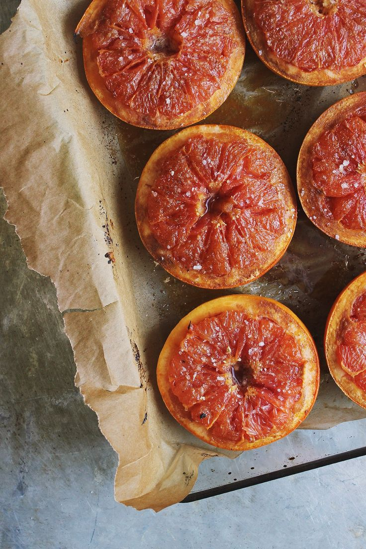 Broiled Grapefruit with Sea Salt + Vanilla Ginger Coconut Cream | @withfoodandlove