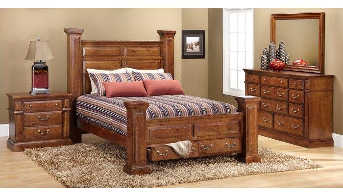 Slumberland Furniture Torreon Collection Pine 4 Pc