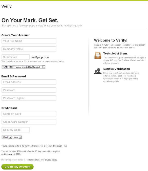 Best Registration Pages Images On   User Interface