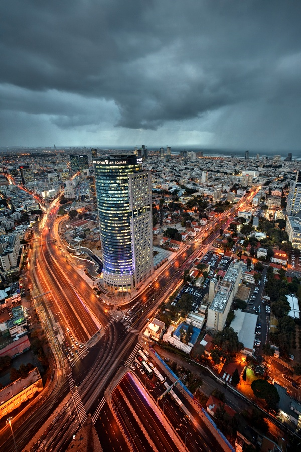 Tel Aviv city and highway Ayalon by night. This amazing city never sleeps! www.facetozion.com