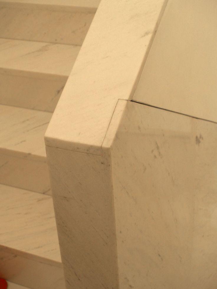 Detail of the marble facing one of the stairways. IBERÊ CAMARGO FOUNDATION, Alvaro Siza, Porto Alegre, Brasil (2008)