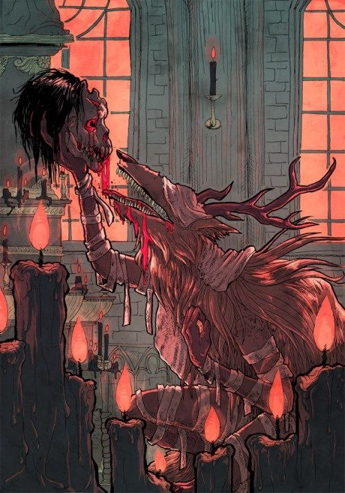 #Bloodborne #art #boss #Vikar Amelia