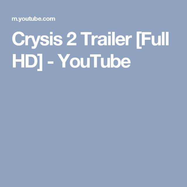 Crysis 2 Trailer [Full HD] - YouTube