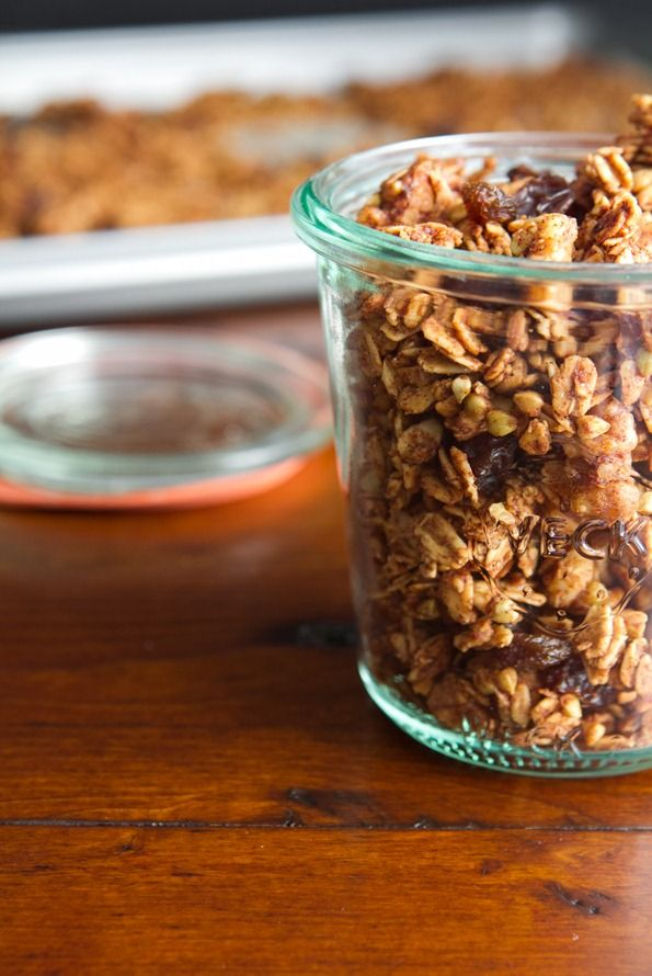 cinnamon bun granola tiny treats 6619   Cinnamon Bun Granola Recipe + Halloween Treat a thon!