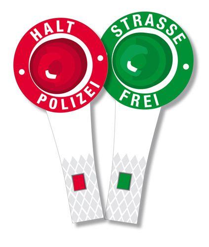 Die Kellen sind die perfekt Dekoration auf einer Polizeiparty. Die Kinder können mit den Kellen auch Polizist spielen. Die Polizei Kellen findet ihr  bei www.party-princess.de