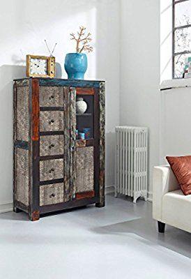 GOA 3502 Brotschrank, Holz, 45 x 95 x 147 cm, bunt