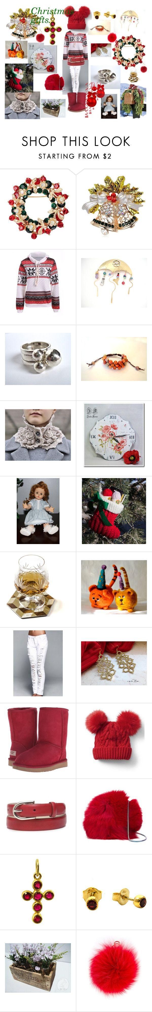 """Christmas gifts."" by stavrosdragatakis ❤ liked on Polyvore featuring Shamballa Jewels, UGG Australia, Gap, New Directions, Diane Von Furstenberg, Furla, L.K.Bennett and dragatakisjewellery"