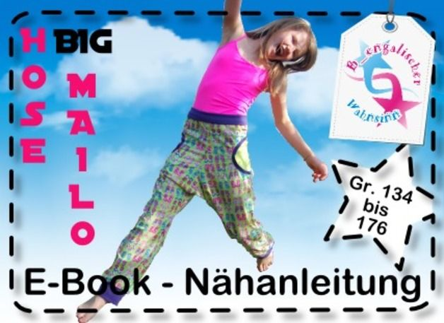 "Ebook ""Hose BIG MAILO"" Gr. 134 - 176 Schnittmuster"