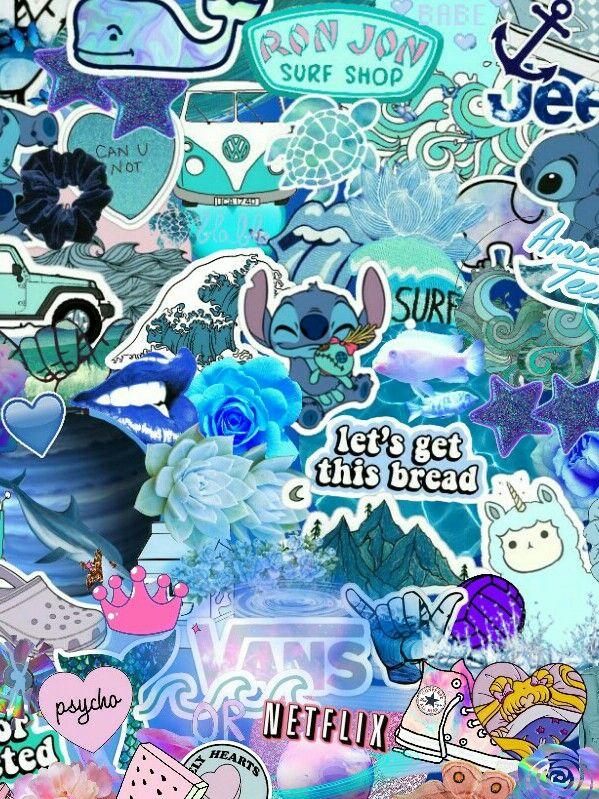 Vsco Girl Wallpaper Blue Wallpaper Vsco Adesivos Bonitos Papel