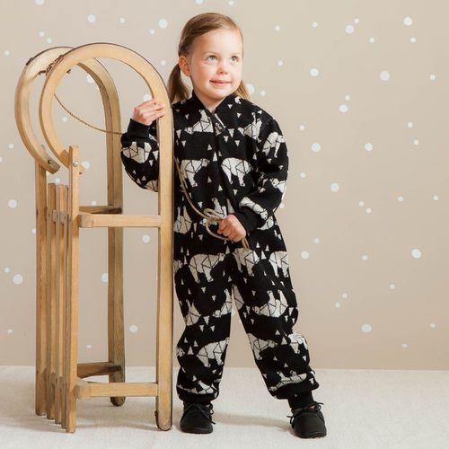 ARCTIC baby villahaalari, musta | NOSH & KIVAT villavaatemallisto tarjoaa villavaatteita  ja asusteita syksyyn ja talveen! Pipoja myös aikuisille. Tutustu mallistoon ja tilaa NOSH vaatekutsuilta, edustajalta tai verkosta http://nosh.fi/category/950/ | (This collection is available only in Finland )