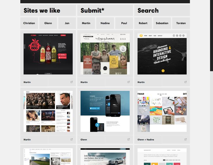 Sites we like | The best and alway updated collection of webdesign. Germany, 2013