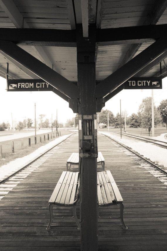 Chicago photography Vintage CTA Chicago train by rebeccaplotnick