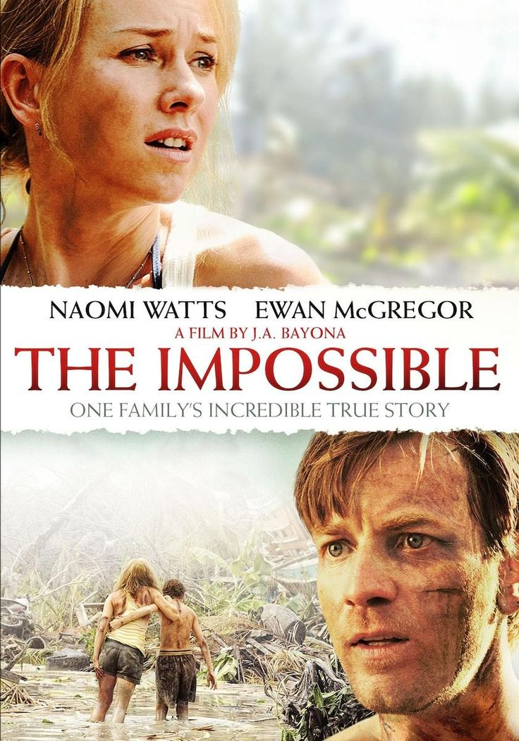Finally gave in to my darling husband's pleas & watched The Impossible last night. Unbelievably powerful & moving film. At one point I couldn't sit down & was actually stood shouting at the screen! Woke up thinking about it too.