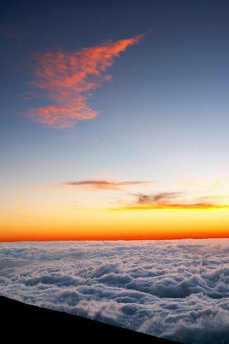 Above the clouds at Mt. Haleakala, Maui