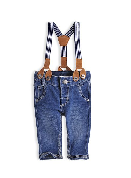 Pumpkin Patch - jeans - denim jeans with braces - S3BB60017 - indigo denim - 0-3mths to 12-18mths