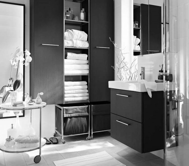 Appealing Black And White Bathrooms Bathroom Making Cool And Fresh Using  Blue Grey Paint Color Black White And Beige Bathrooms Bathroom Black And Wu2026  ...