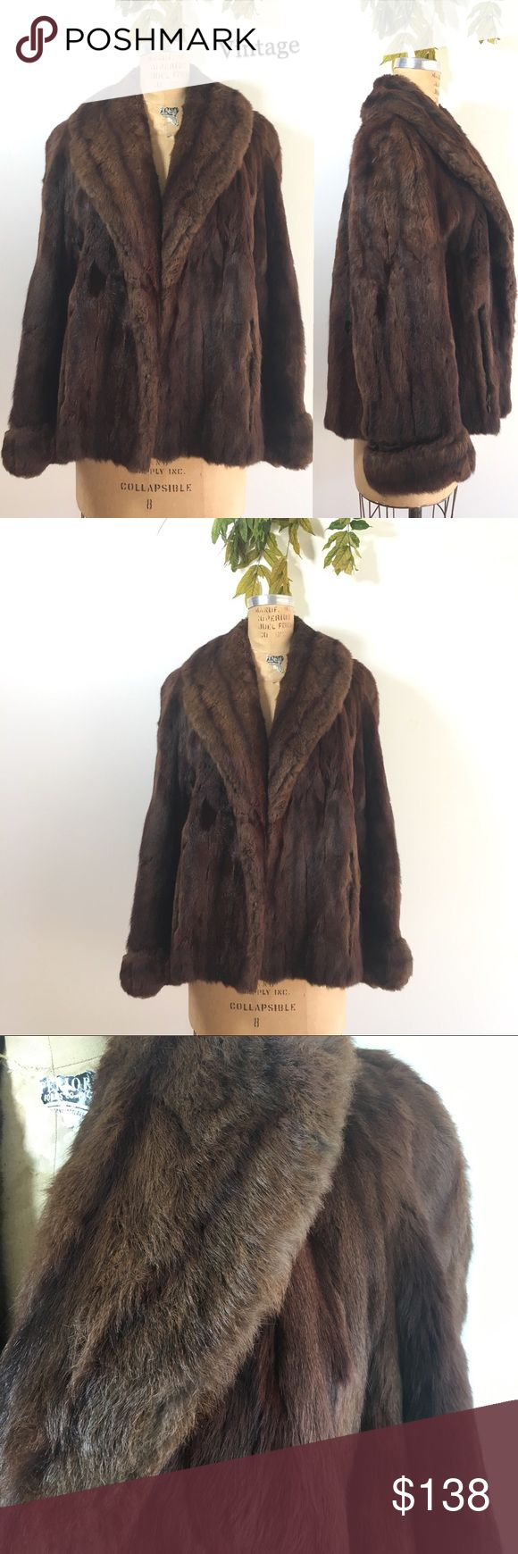 Vintage Fur Jacket All the MCM glamour and warmth of real fur yet a bit more ethical as vintage- this one was made exclusively for Stella. Fur is in very nice condition- amazingly soft-lining needs to be hand stitched in a few places but not torn. Pockets and the union /fair labor label. I am not an expert just a vintage lover so not identifying fur type. As is. Fits as size M/L.  Serious inquiries and reasonable offers welcome. Vintage Jackets & Coats