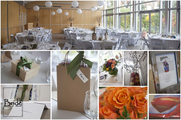 The set up for Jenn & Sarah's gorgeous, garden wedding at the London Civic Centre!