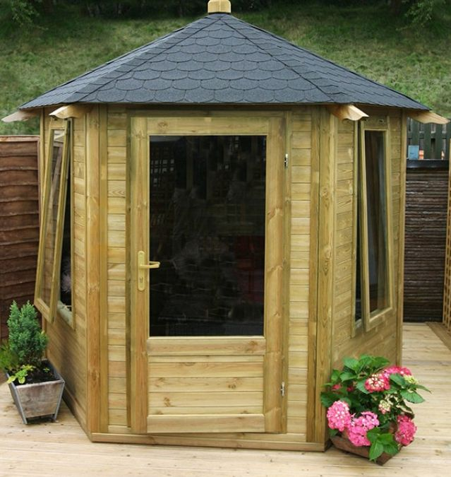 This #attractive #summerhouse comes with windows with laminated glass and a strong floor. An ideal place for #entertaining in any season or a place to simply #relax.