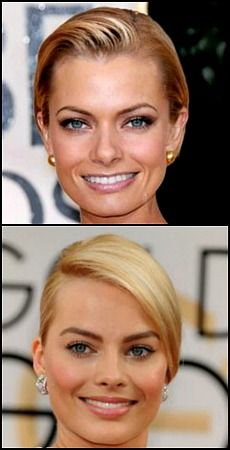 Celeb Look-a-Likes Margot Robbie and Jaime Pressly