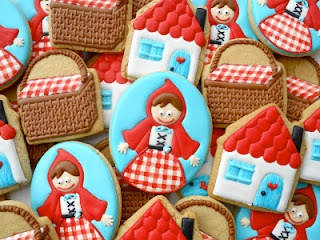 Little Red Riding Hood cookies by Oh, Sugar! Events .http://ohsugareventplanningblogspot.com/
